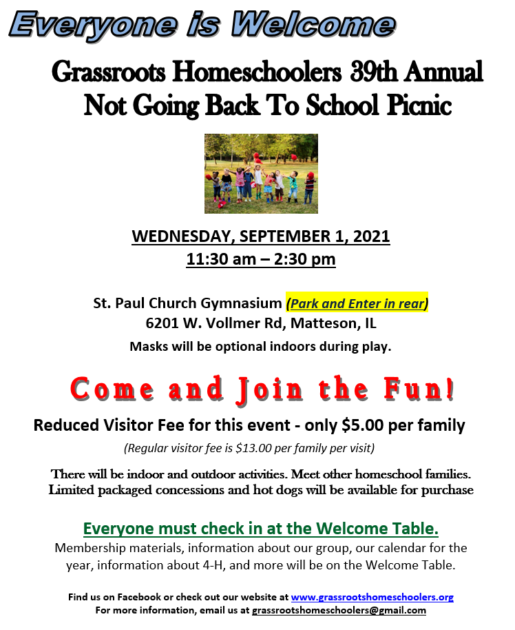 Grassroots Not Going Back to School Picnic Image